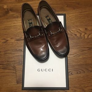GUCCI Men's Roos Bit Loafers. Cocoa. Size 8US/7UK.